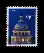 usa - circa 2001: stamp printed in usa, shows capitol dome, circa 2001. - stock photo