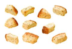 Stock Photo of croutons isolated