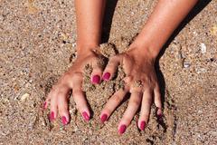 Play on the Beach - stock photo