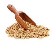 granola scoop isolated - stock photo