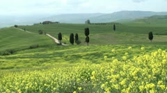 Tuscan landscape Stock Footage