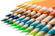 Stock Photo of Colored Pencils Isolated on a White Background