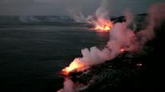 Stock Video Footage of Hawaii lava flow, Kilauea ocean entry