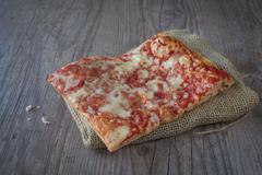 pizza slice - stock photo