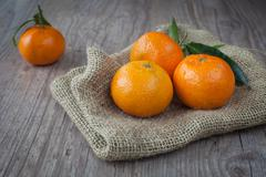 Fresh tangerine Stock Photos