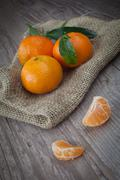 fresh tangerine - stock photo