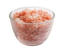 pink himalayan salt isolated clipping path - stock photo