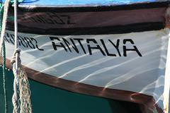 Boats in Antalya Stock Photos