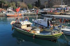 Stock Photo of Boats in Antalya