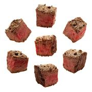 Stock Photo of meat chunks isolated