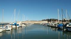 Sail Boats Docked at Fort Mason, San Francisco Stock Footage