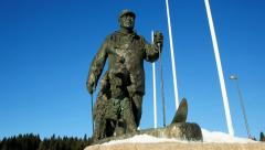 King Olav V monument at Holmenkollen Stock Footage