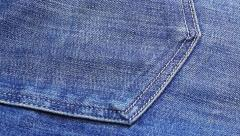 Blue jeans cloth background, sliding video - stock footage