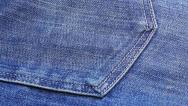 Stock Video Footage of Blue jeans cloth background, sliding video