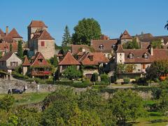 Stock Photo of medieval town and walls ..