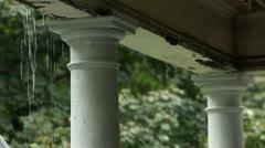 Porch Rain - stock footage