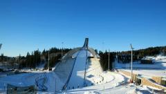 Holmenkollen Ski Jump Hill - stock footage