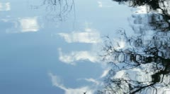 Tree and Sky Reflection Stock Footage