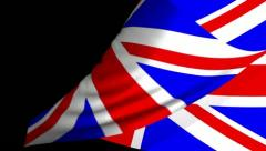 UK Flag Page Curl, Wipe, Transition. Stock Footage