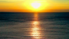 Blue ocean and a sunset Stock Footage