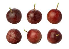 passion fruit isolated on white - stock photo