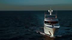 Luxury Megayacht - Aerial Heli Footage Stock Footage