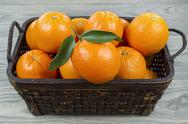 Basket of fresh fruit Stock Photos