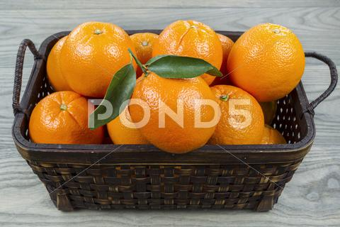 Stock photo of basket of fresh fruit