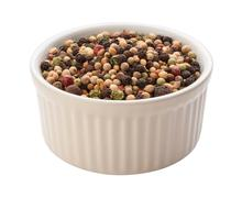 rainbow peppercorn isolated clipping path - stock photo