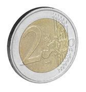 Stock Photo of two euro coin closeup