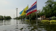 Stock Video Footage of Thailand Ayutthaya Flood 9641