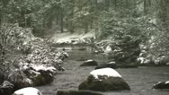 Stock Video Footage of Snowy river CU Bellever