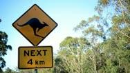 Australian Road Sign Stock Footage