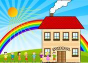 Children and school Stock Illustration