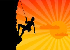 climber - stock illustration