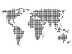 Maailmankartalle ympyrä Piirros