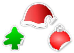 Christmas Stickers Stock Illustration