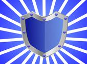 Stock Illustration of Blue Gem Studded Shield