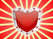 Stock Illustration of Gem Studded Red Shield