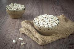 White beans Stock Photos