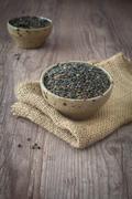 Stock Photo of black lentils
