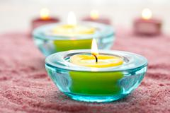 close-up of candles - stock photo