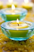 Stock Photo of candles with bath salt