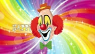 Stock Video Footage of Happy purim clown with matte HD