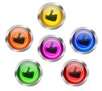 Share Like Web Buttons Stock Illustration