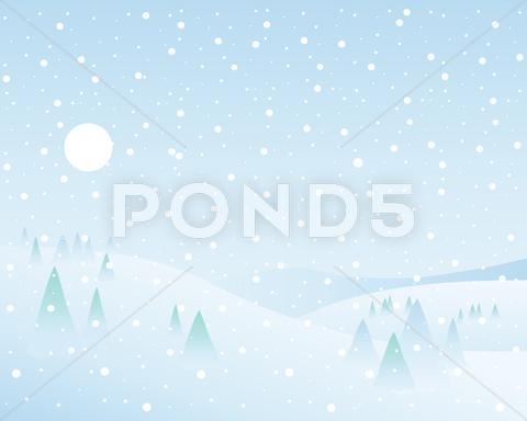Stock Illustration of winter wonderland