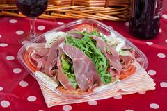Italian salad with ham Stock Photos