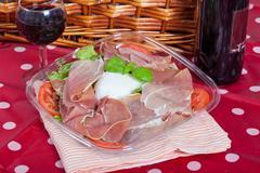bufala mozzarella salad - stock photo