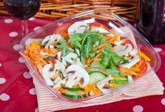 mushrooms salad - stock photo