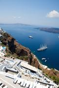 Thira, santorini, greece Stock Photos
